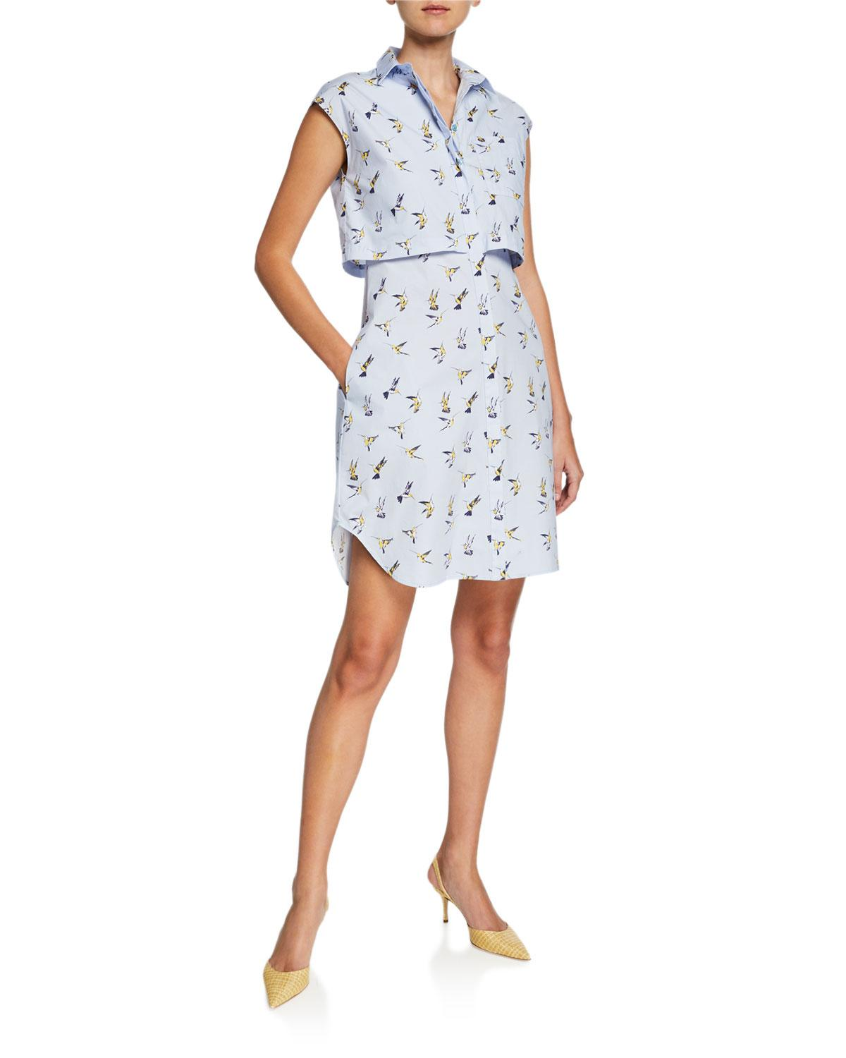 0677b3d877c Carolina Herrera. Women s Hummingbird Button-down Shirtdress