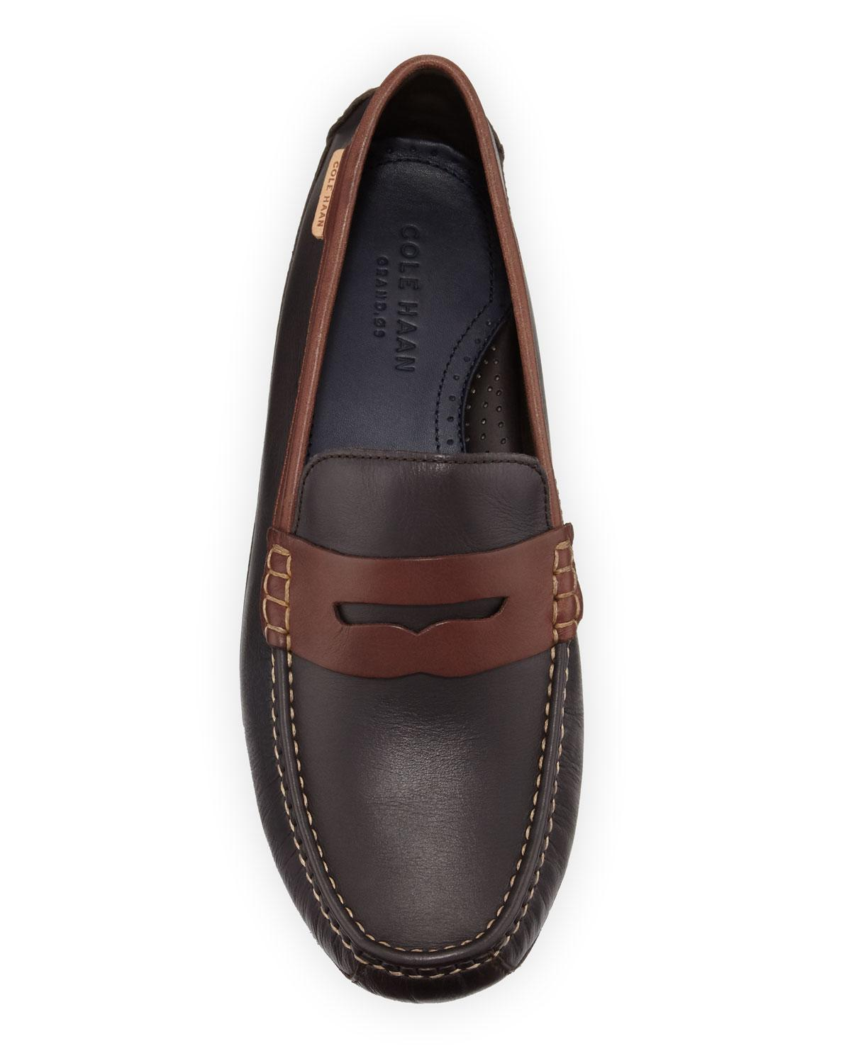 2f3a1cf43e5 Lyst - Cole Haan Men s Coburn Leather Penny Drivers in Brown for Men