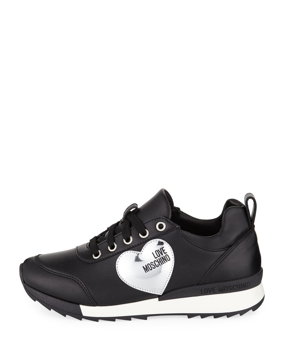 acc73449b7d Lyst - Love Moschino Power Leather Platform Sneakers in Black