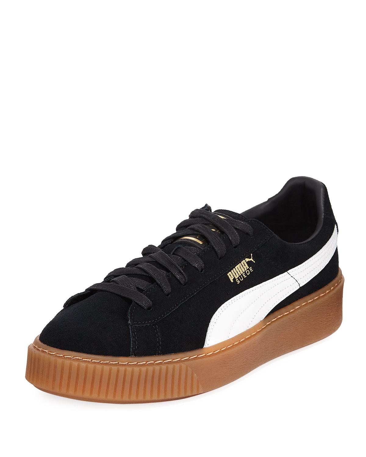 bf12a435900 Lyst - PUMA Puma Basket Platform Trainers in Black for Men - Save 44%