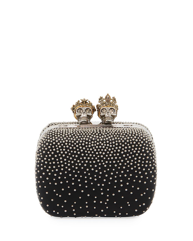 Alexander McQueen Queen & King Skull Mini Box Clutch Bag 1kohAiEnT