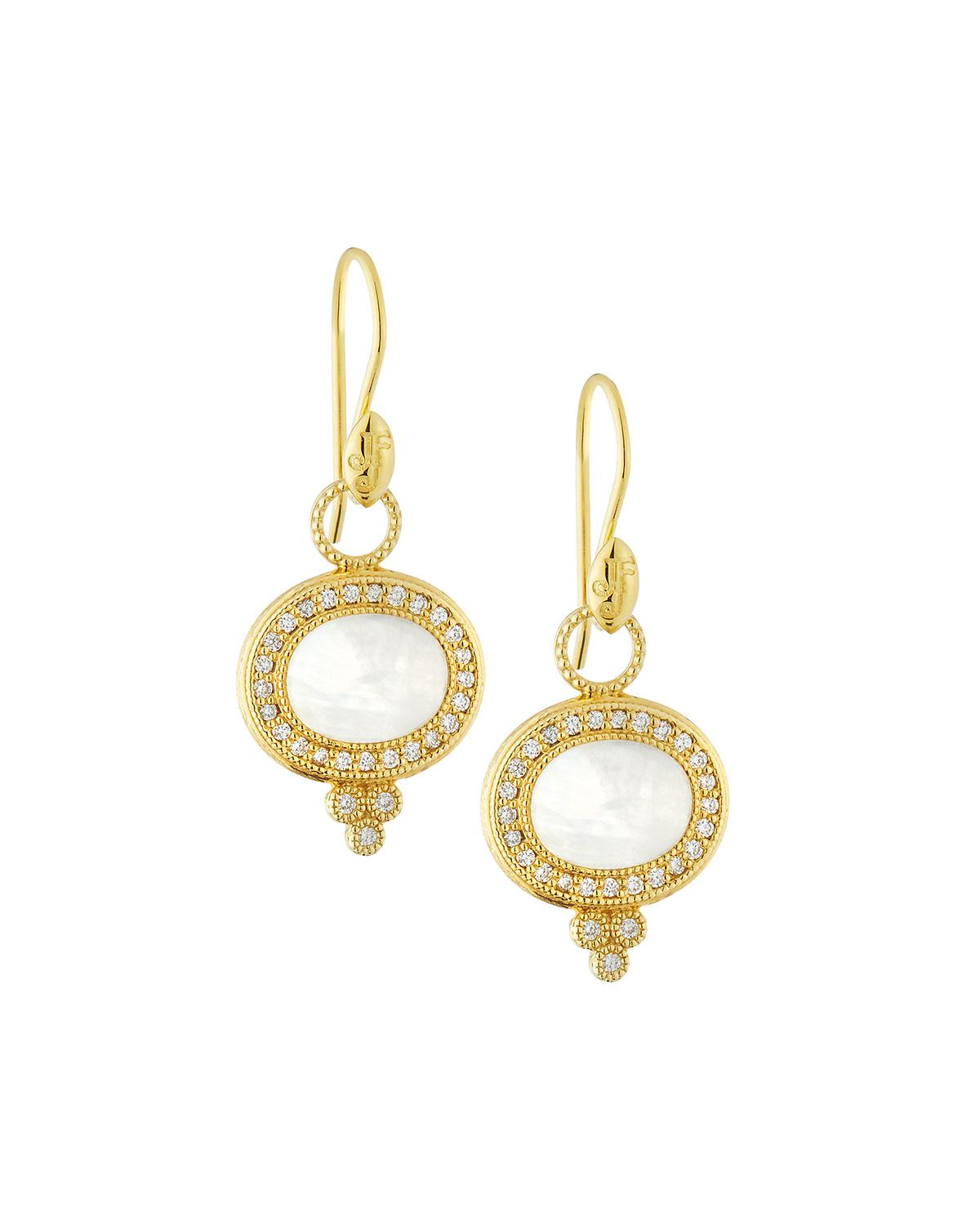Jude Frances Provence Pearl Drop Earrings in 18K Rose Gold 6S3M6XpK