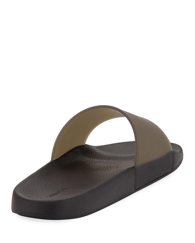 45f449e88f776 Lyst - Vince West Coast Rubber Slide Sandal in Orange for Men