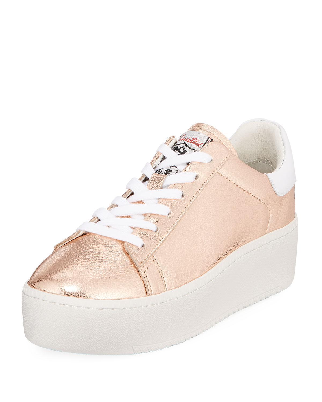 Ash. Women's Pink Cult Metallic Platform Sneaker