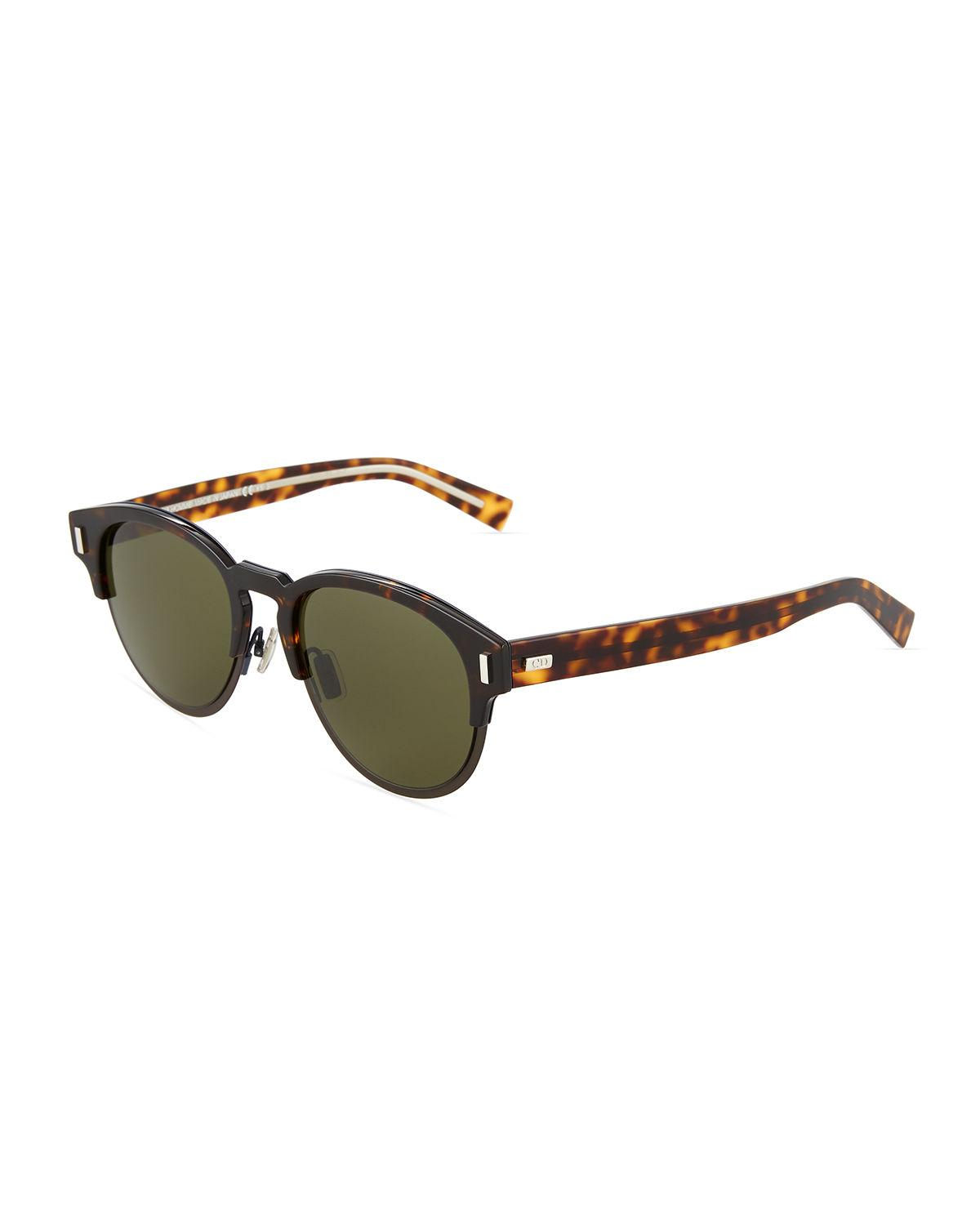 59aab4be37 Dior Brow-line Acetate Sunglasses in Brown - Lyst