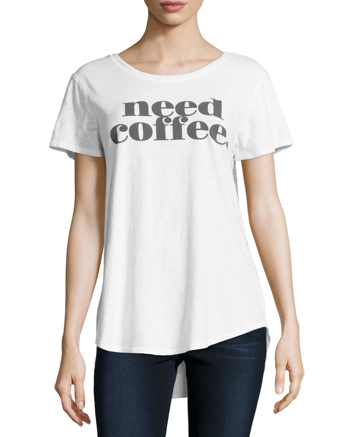 Signorelli Need Coffee Graphic Tee in White
