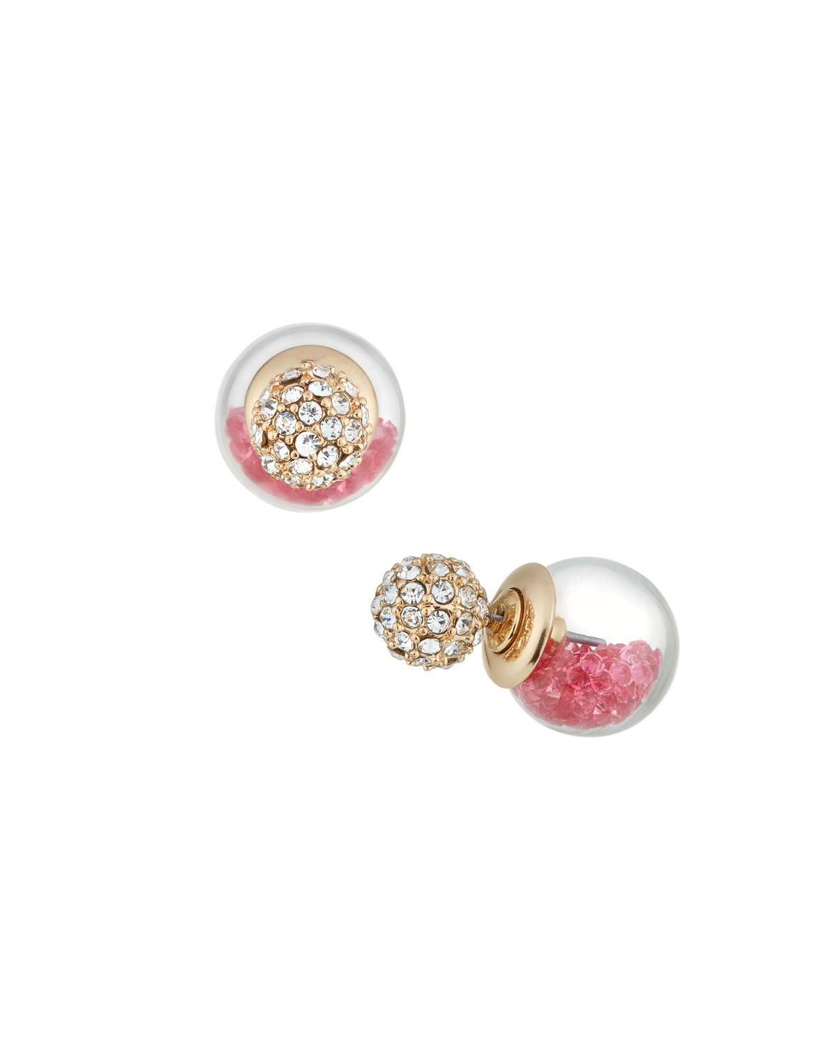 Lydell Nyc Green Crackle Stud Earrings