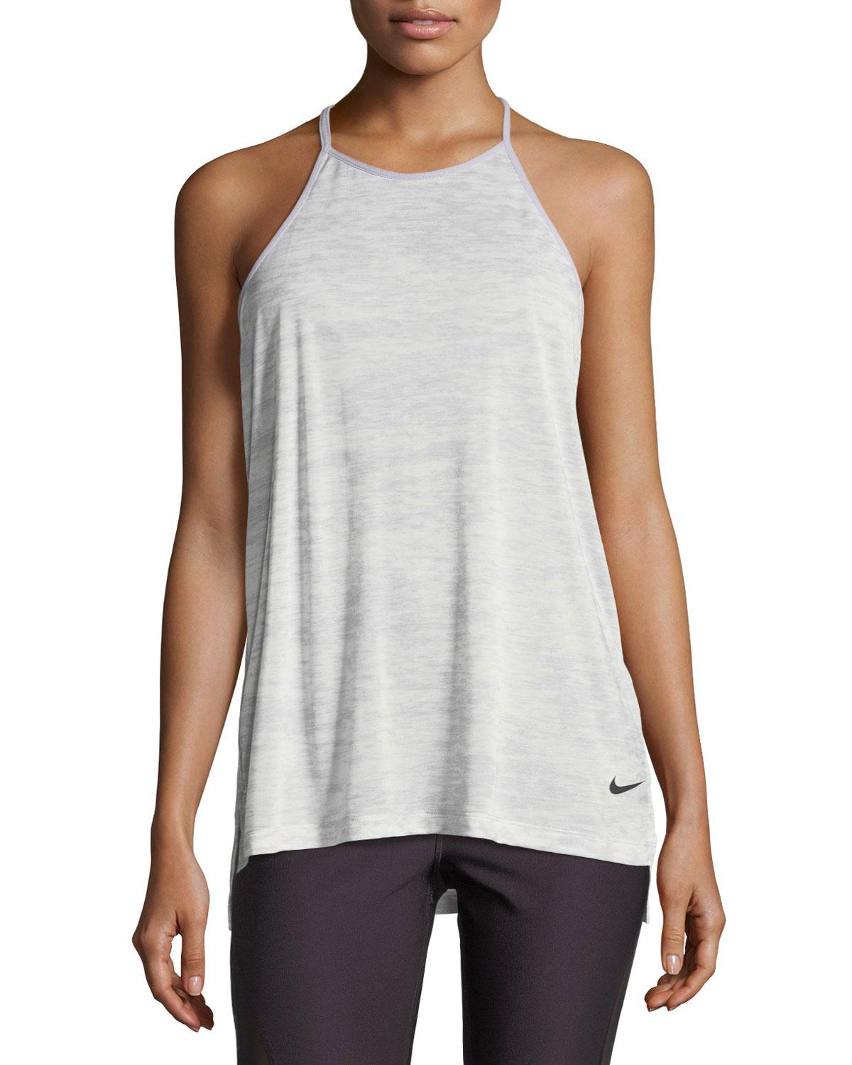 7c12dc4241 Lyst - Nike Breathe T-back Loose Training Performance Tank Gray in White