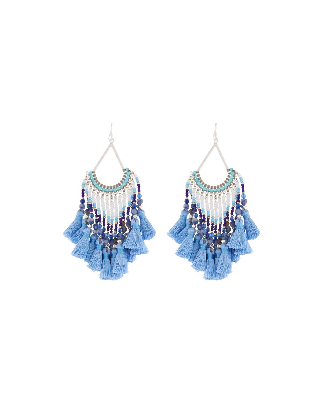 Nakamol Multi-Tassel Dangle Earrings lvOcSFRz