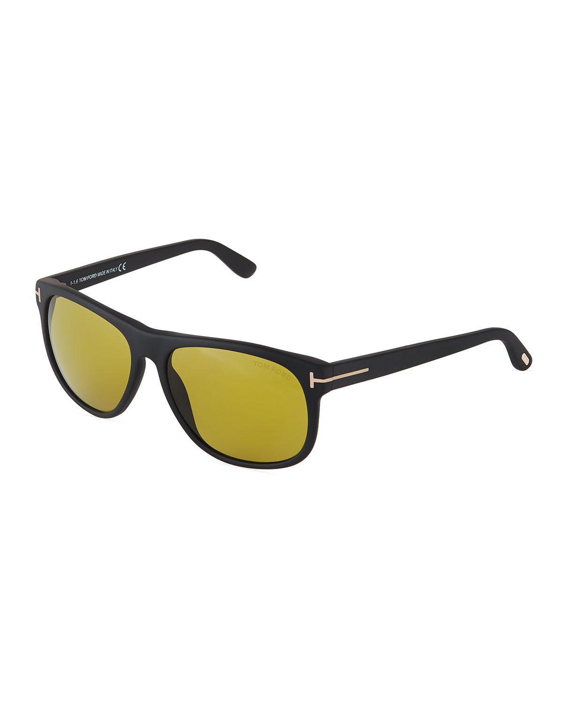 e13e6cfa57 Lyst - Tom Ford Olivier Soft Square Sunglasses in Black for Men