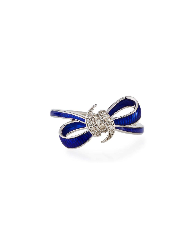 Ring Bow Il Gioiello Personalizzabile Con La Tua Nailart: Stephen Webster Forget Me Knot Blue Enamel