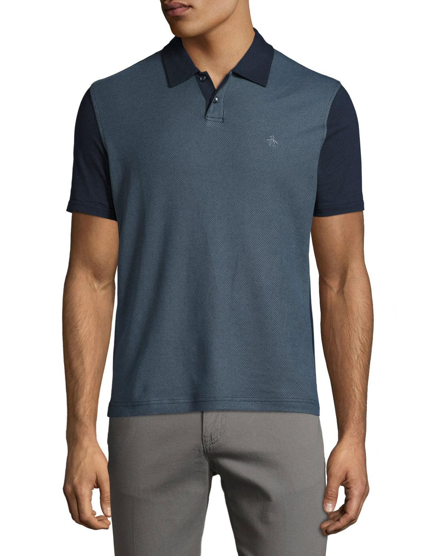1c7a41f6 Lyst - Original Penguin Diamond Jacquard Polo Shirt in Red for Men