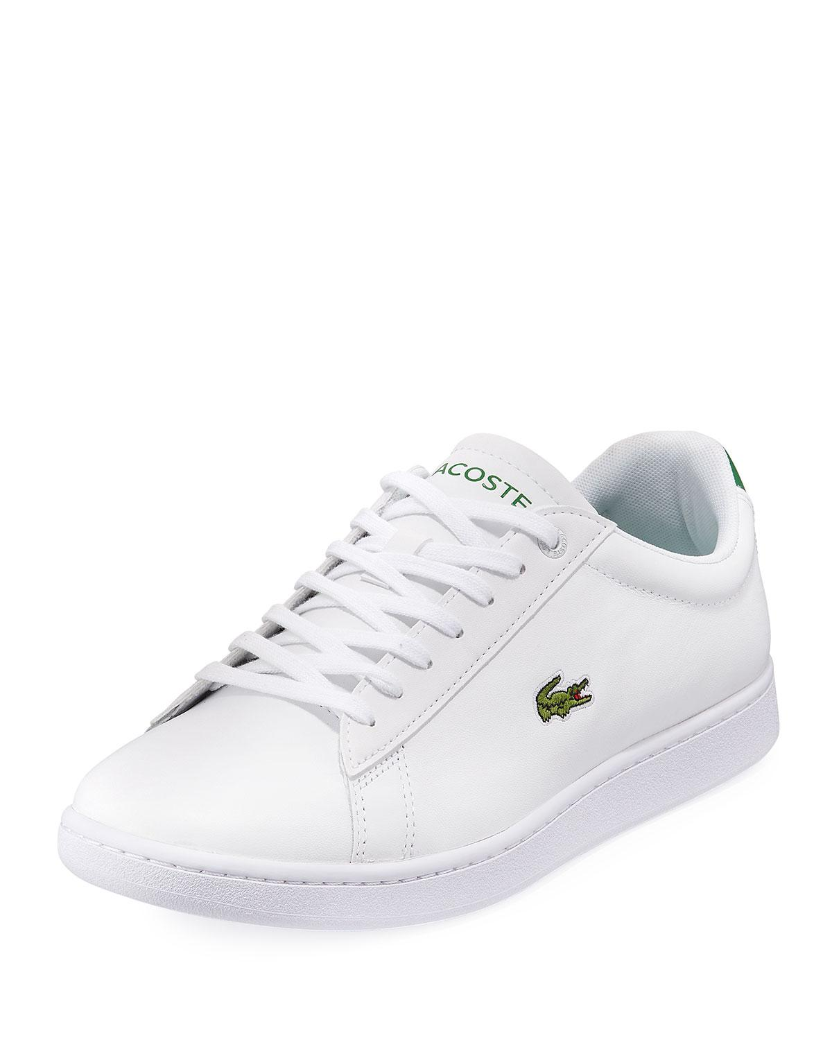 a330b4472620 Lyst - Lacoste Men s Hydez Leather Sneakers in White for Men