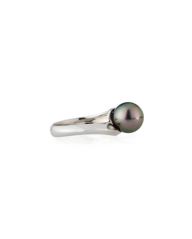 Belpearl 18k Asymmetric Diamond & Pearl Ring unlRcaR