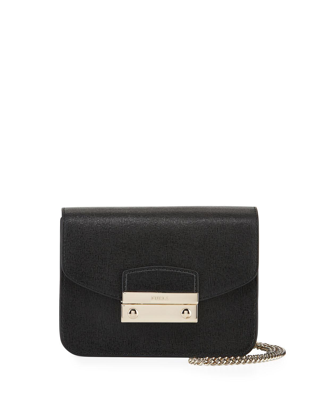 92befdc8194e Furla Julia Mini Saffiano Leather Crossbody Bag in Black - Lyst