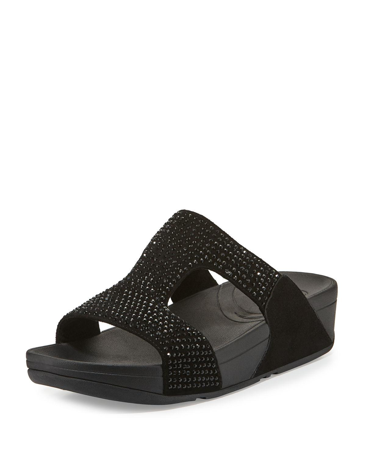 addc0a005 Fitflop Womens Rokkit Crystal Slide Sandal