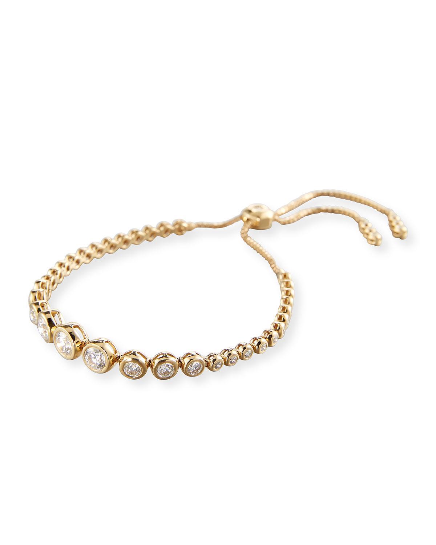 Neiman Marcus 14k Yellow Gold Adjustable Diamond Bracelet