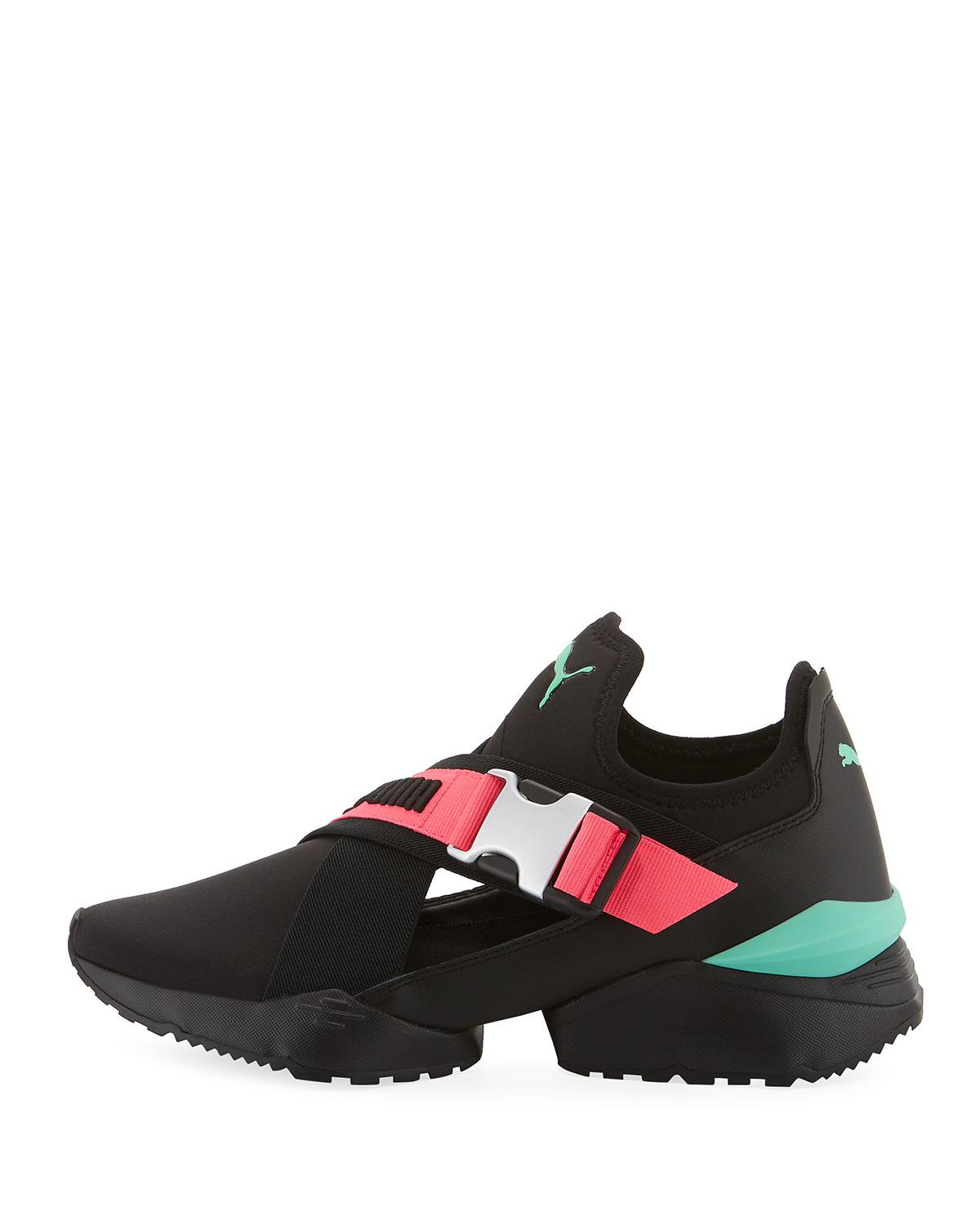 528481c6fadc Lyst - PUMA Muse Eos Cutout Neoprene Sneakers in Black
