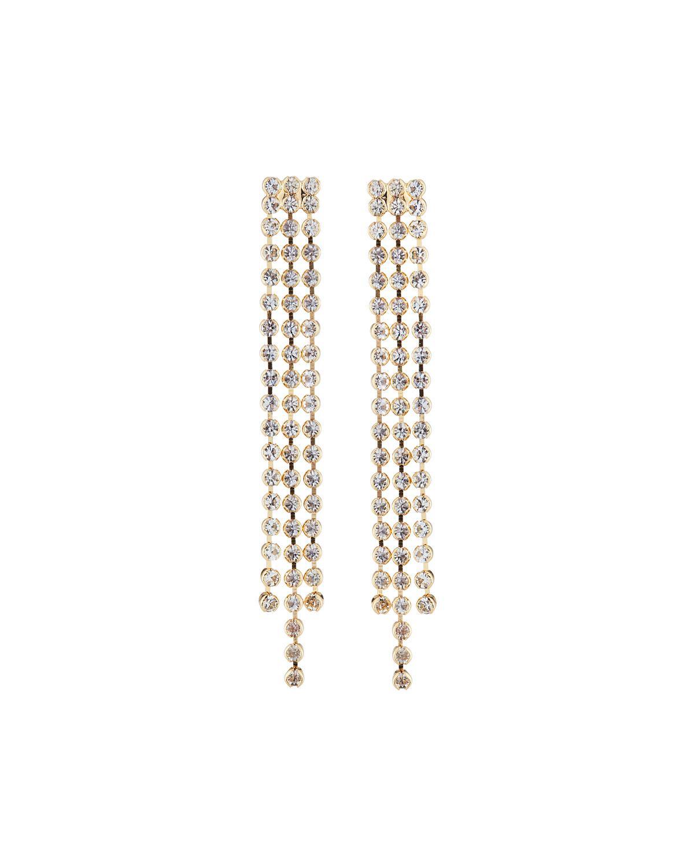 Fragments Triple Crystal Dangle Earrings TUrj4MF94
