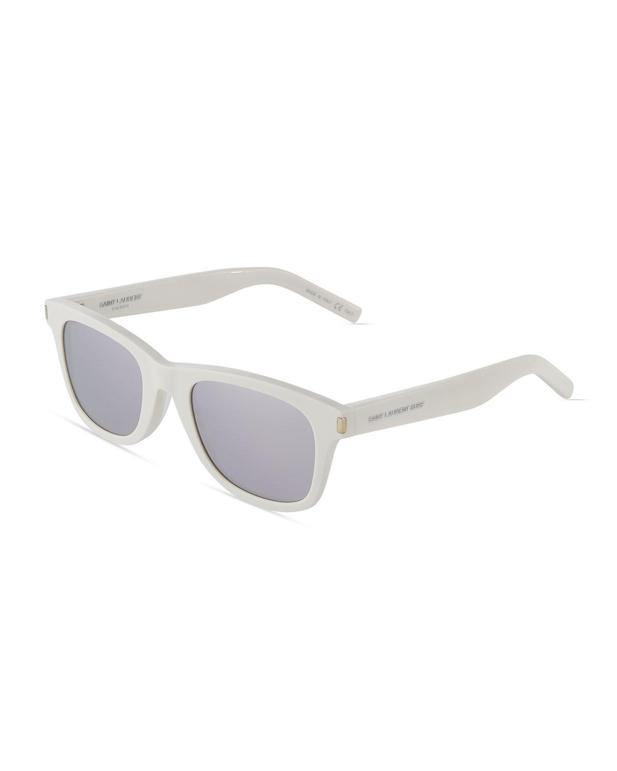 2afdcbacba Lyst - Saint Laurent Surf Square Acetate Sunglasses in White