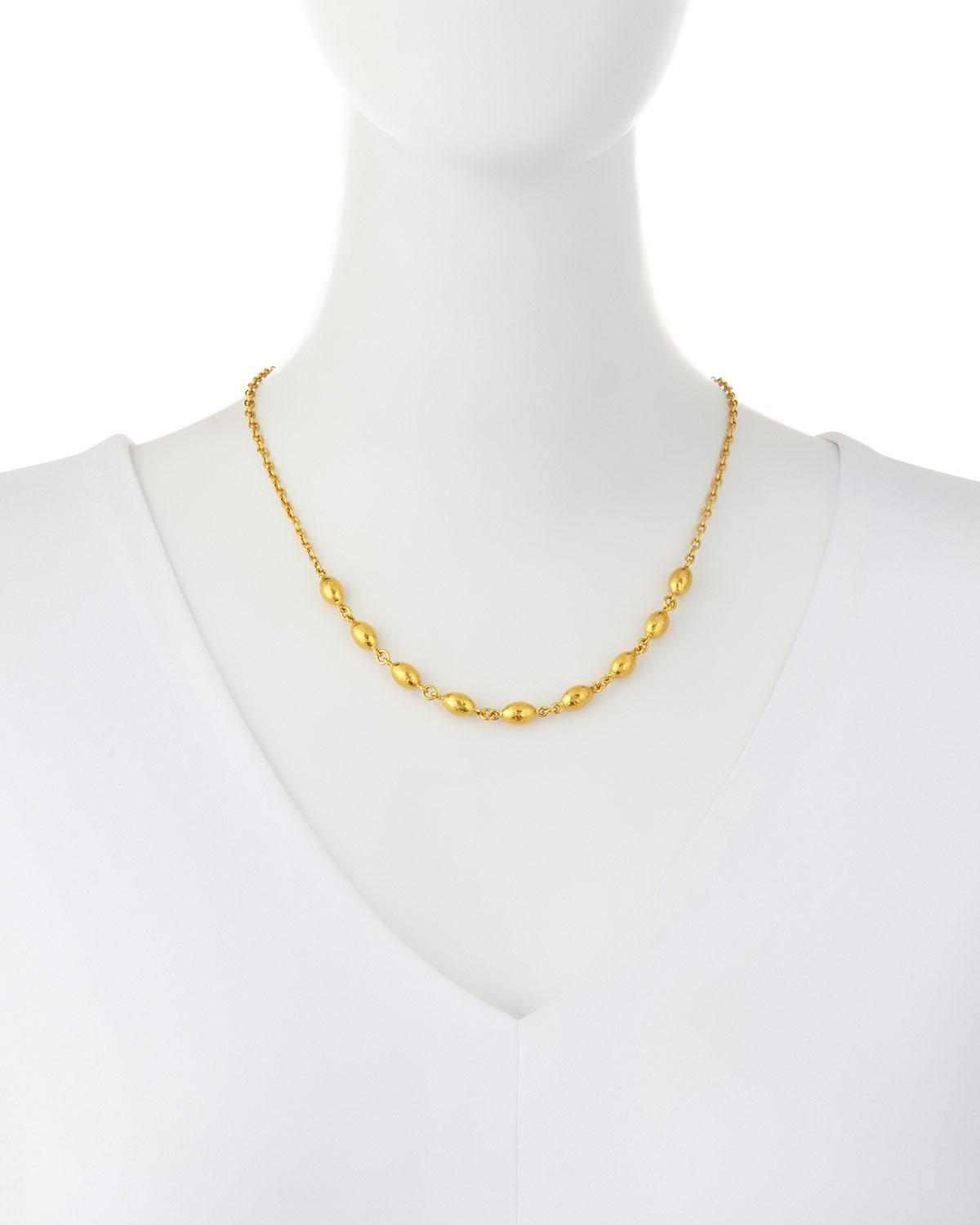 Gurhan Cocoon Front Station Necklace