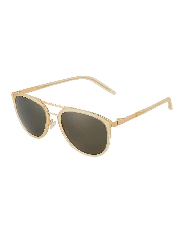 200bcebbbcc8 Lyst - Barton Perreira Acetate metal Aviator Sunglasses in Natural