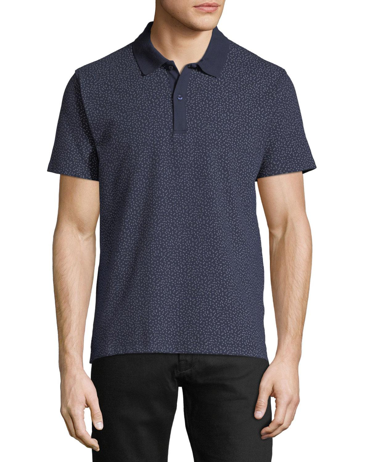 Lyst Slate Stone Printed Polo Shirt In Blue For Men