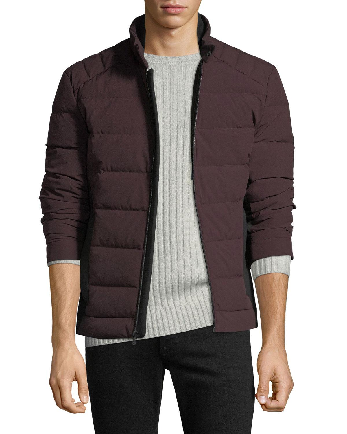 c4d8a17aaa9b7 Lyst - MICHAEL Michael Kors Men s Quilted Stretch Down Fill Jacket ...