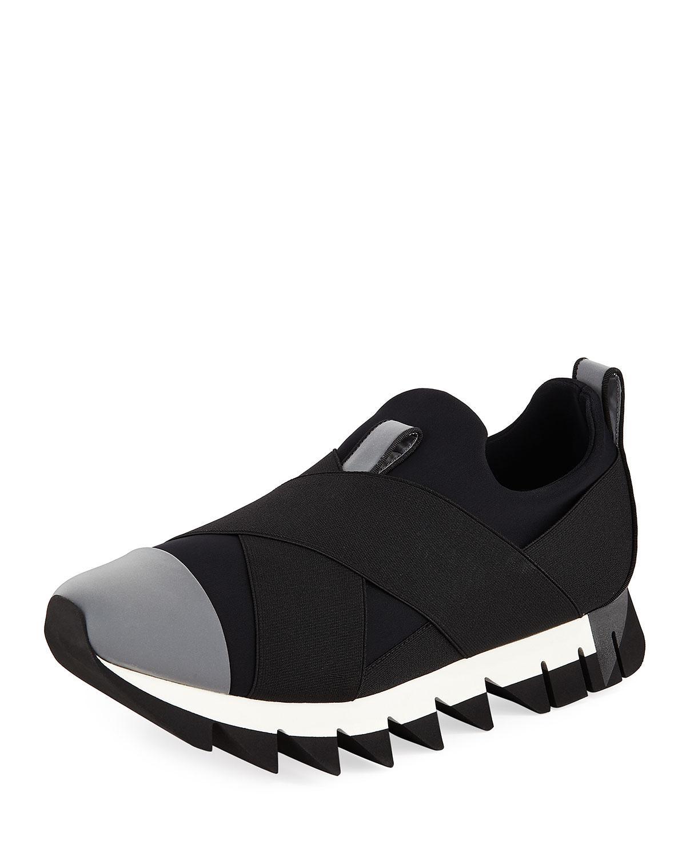 f215bb9eb0ff Lyst - Dolce   Gabbana Men s Chunky Nylon Stretch Sneakers in Black ...