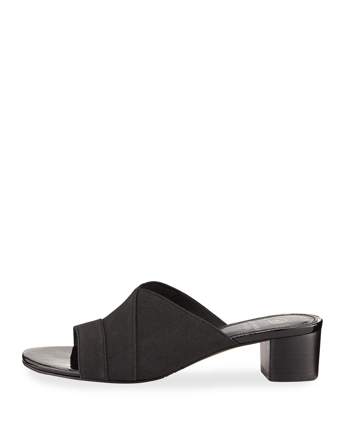 2a496add354a Lyst - Adrianna Papell Elastic Stretch Slide Sandal in Black
