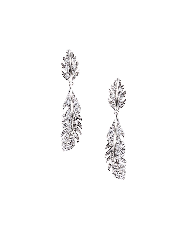 Mimi So Phoenix 18K Rose Gold Feather Earrings with Diamonds 9zMgDD9Y1F