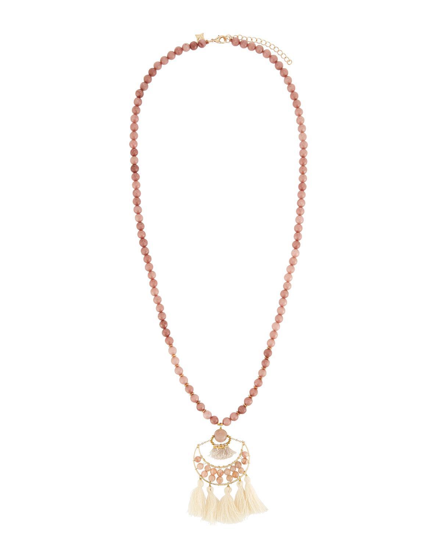 Panacea Stone & Dangles Pendant Necklace vGJcV