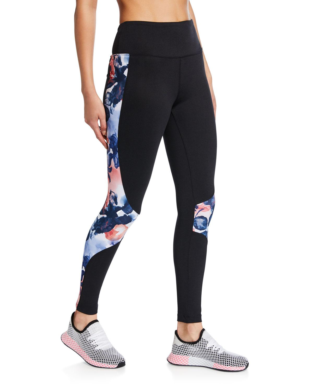 8568707727c2a9 Lyst - Marika Tek Maria Abstract Side High-waist Ankle Leggings in Black