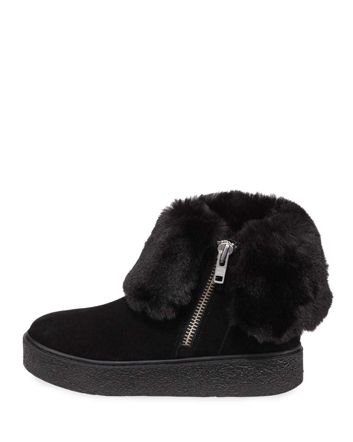 e0cc7c3d7398 Lyst - J Slides Brynn Sneakers Bootie With Faux-fur Collar in Black
