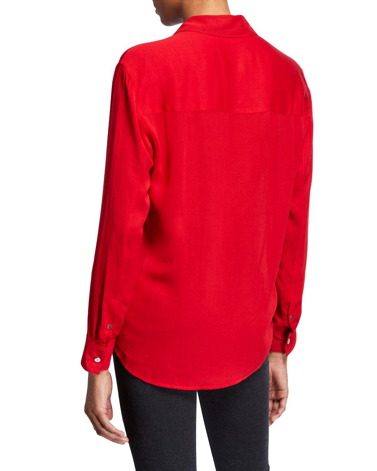 d5886a1d9ef48c Lyst - The Kooples High-low Button-down Boyfriend Shirt in Red