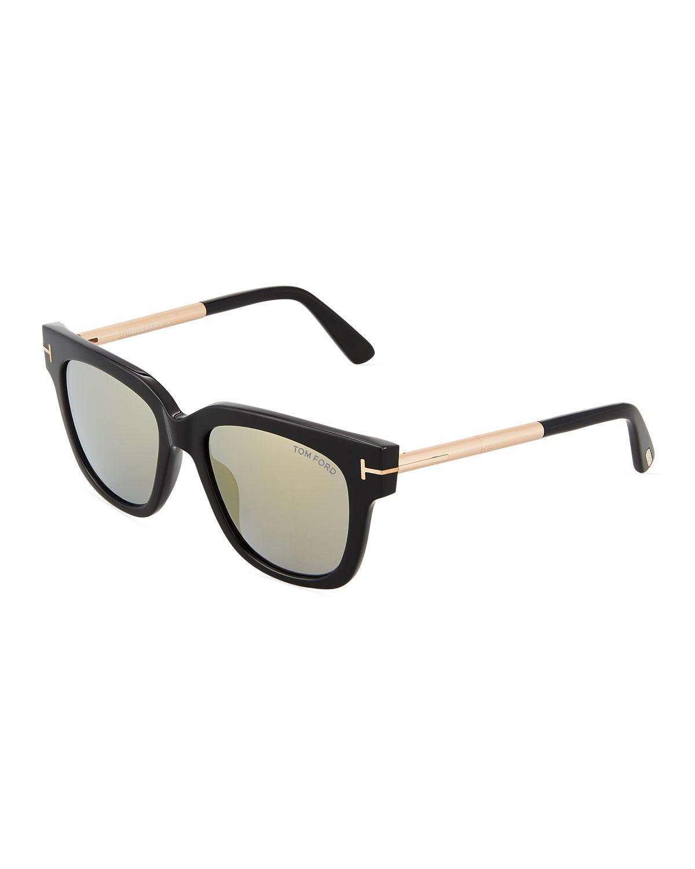 b3e409ef4d Lyst - Tom Ford Plastic metal Square Sunglasses in Black