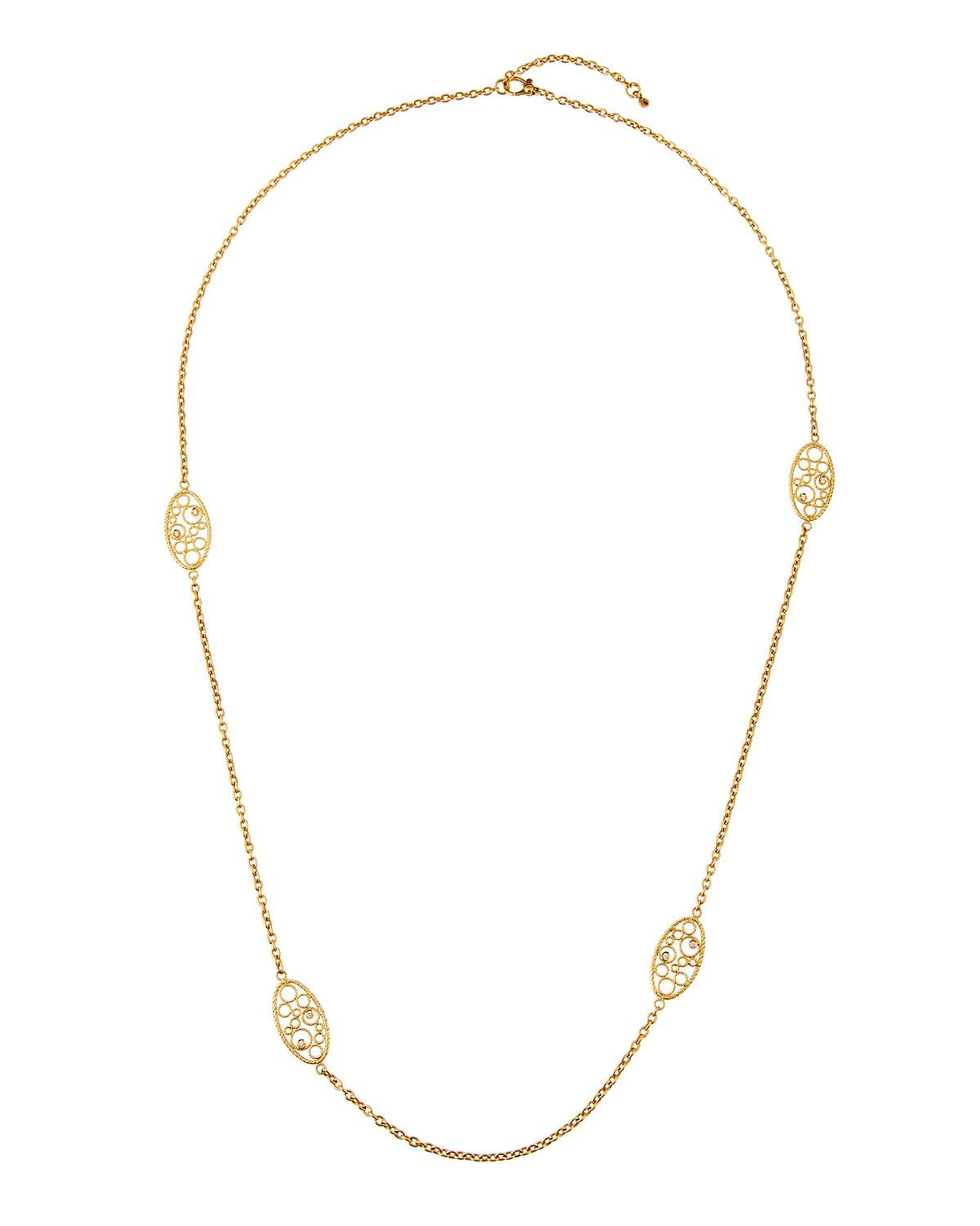 Roberto Coin Bollicine 18k Yellow Gold Long 2-Station Necklace tMJlf0C