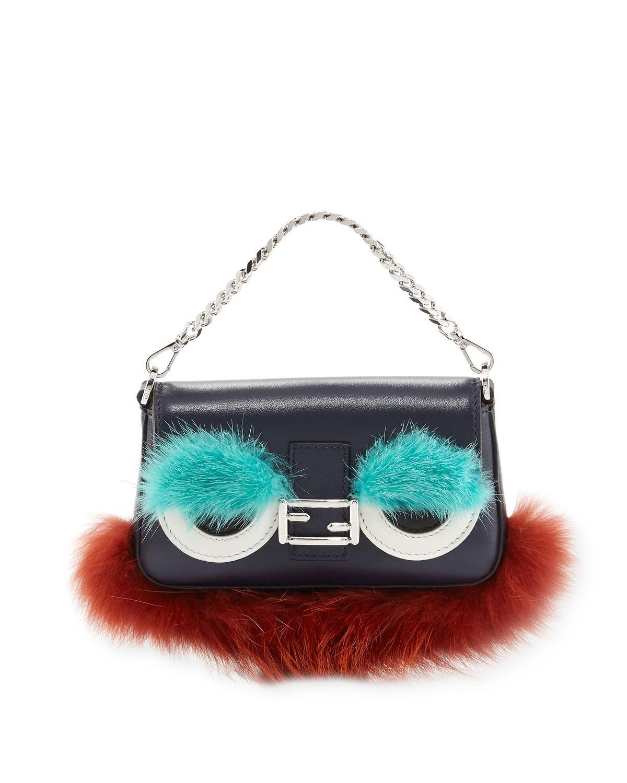 Lyst - Fendi Baguette Micro Bag Bugs Crossbody Bag in Blue 6384414fb0