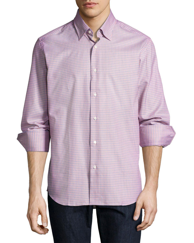 Lyst Neiman Marcus Tight Circle Sport Shirt In Orange For Men