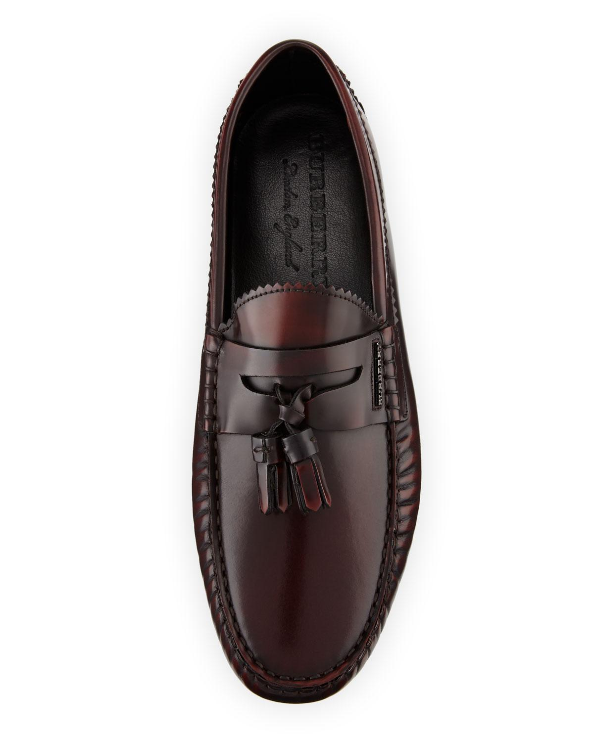 be08715ea48 Lyst - Burberry Men s Antiqued Penny Loafers for Men