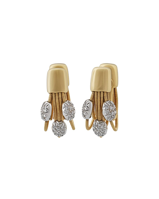 Marco Bicego 18k Multi-Strand Diamond Earrings LbZTmNGhX