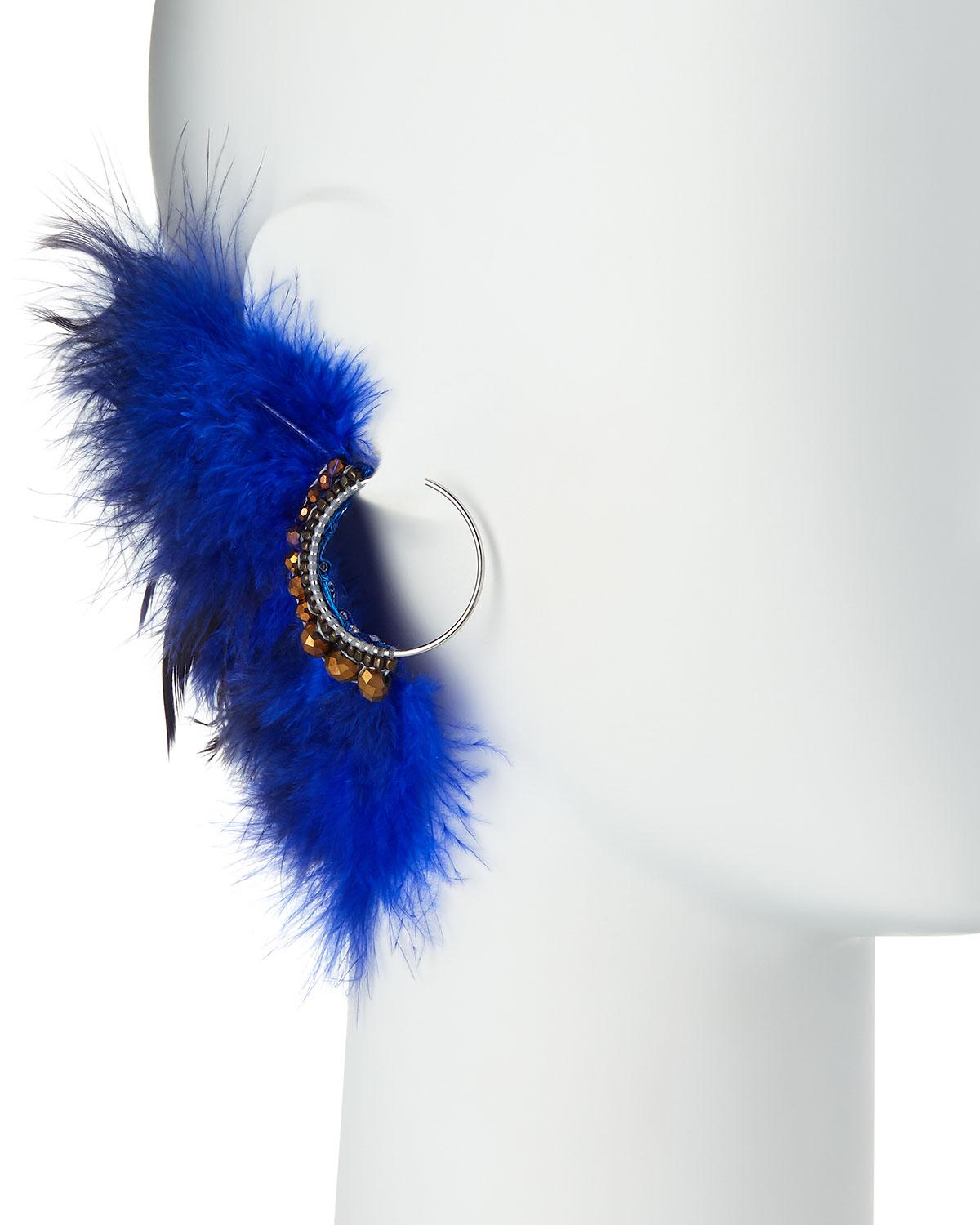 Nakamol Feather Thread-Through Hoop Earrings 7gY9WMradQ
