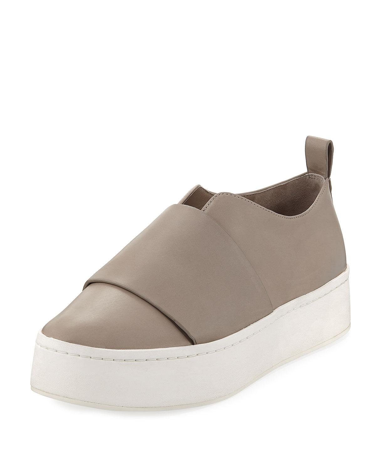 757a2621a Vince Wallace Leather Platform Skate Sneaker - Lyst