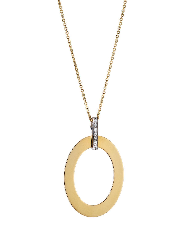 Roberto Coin Chic & Shine 18k Diamond Oval Necklace tbwuY0CPkP