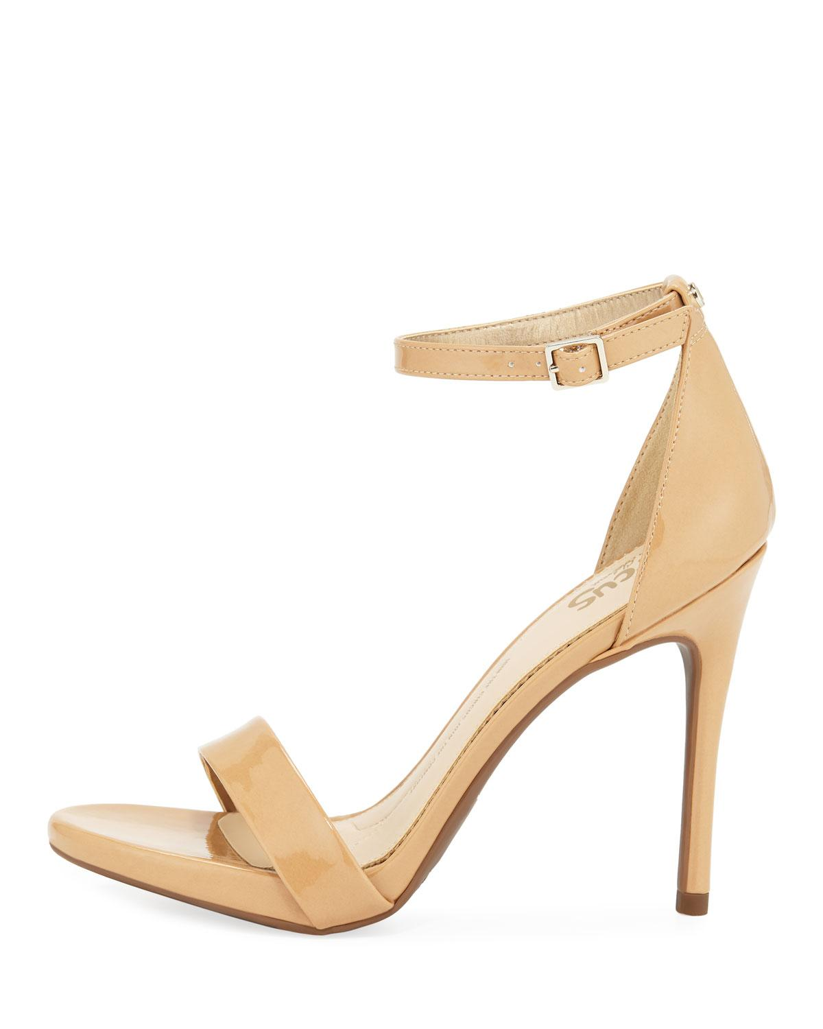 c4d5f43cd45 Lyst - Circus by Sam Edelman Angela Faux-patent High-heel Sandals in Natural