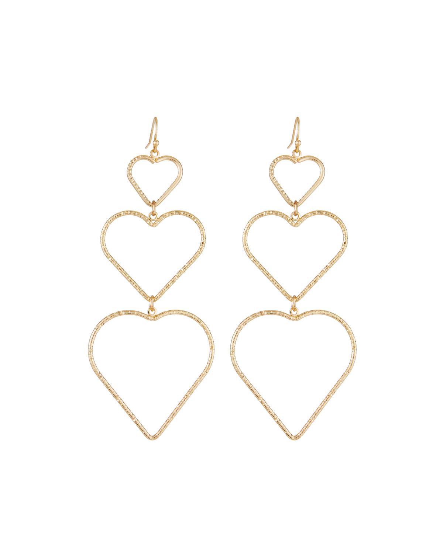 Fragments Interlocking Heart Drop Earrings Sp8KL5e