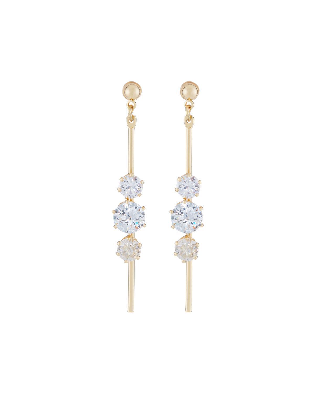 Fragments Crystal Flower Hoop Drop Earrings eIN6ja3Db