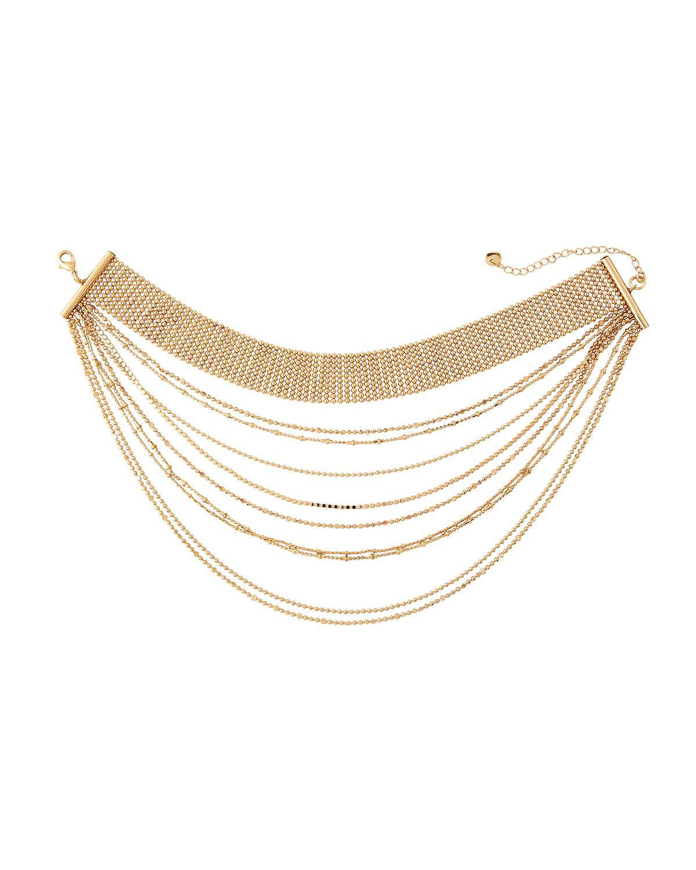 Lydell Nyc Layered Choker Charm Pendant Necklace cVTRAGMI