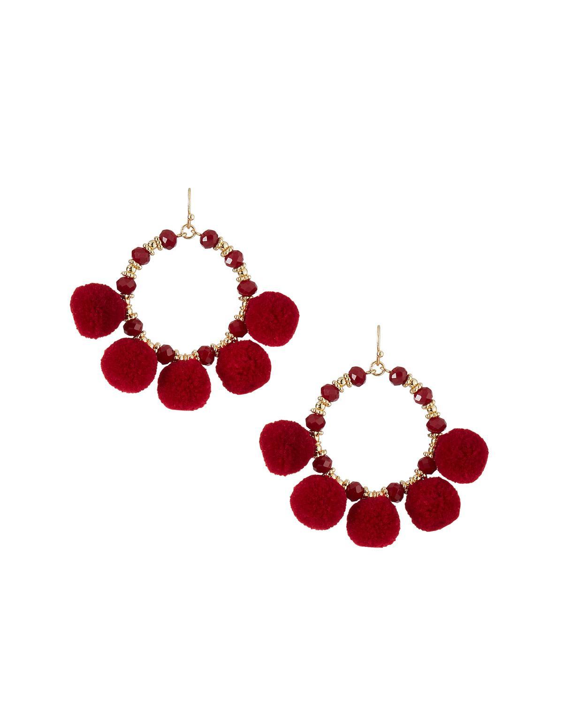 Fragments Flower Hoop Earrings OKkW88Lp