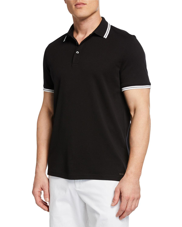 9f934188 Lyst - Michael Kors Men's Half-button Pullover Polo in Black for Men
